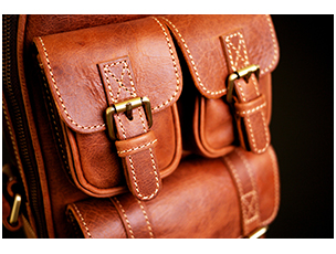 LEATHER BAG : CAPPUCINO (C)